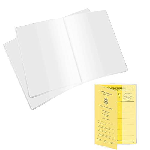 Tarjeta de Funda, Portatarjetas, in plastica trasparente, Resistente a la humedad, resistente al desgaste e impermeable, adecuado para niños y adultos (5pcs)