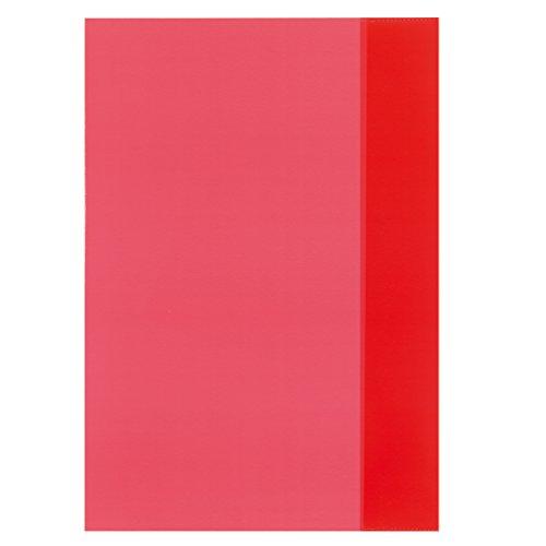 herlitz Heftschoner DIN A4, PP, transparent-rot VE=1
