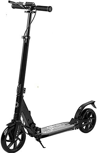 FDGSD Scooters para Adultos - Kick Scooter con Rueda Grande, diseño Plegable, Sistema de Doble amortiguación, Frenos de Mano, Altura Ajustable, Soporte 220 Libras de Peso, Adecuado para Viajes urb