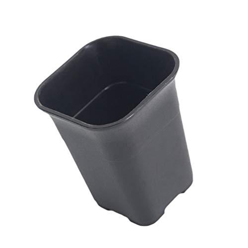 Yardwe Vasi da Fiori Ispessiti in Plastica Fioriere Quadrate Alte Vaso da Fiori Alto con Foro di Drenaggio Nero per Terrazza Coperta Fioriera da Giardino per Esterni 10 Pezzi