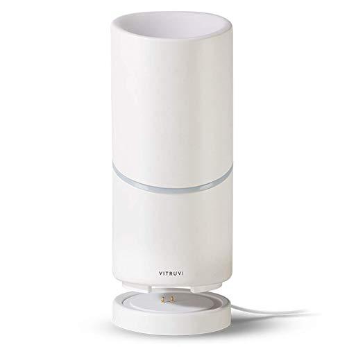Vitruvi Move Cordless Diffuser, Ultrasonic Essential Oil Wireless Diffuser for Aromatherapy, White (65ml Capacity)