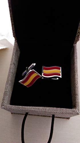 Gemelos con la bandera de España/Shirt cufflinks with the flag of Spa