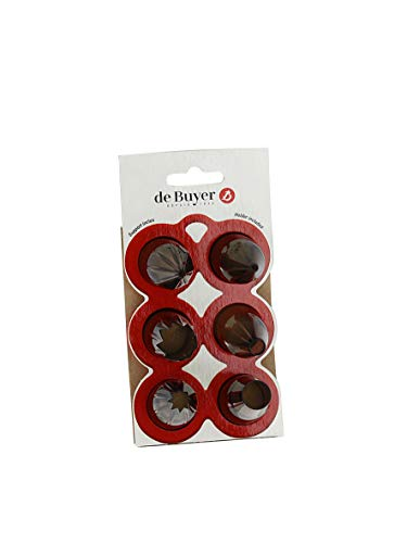 De Buyer -4150.07 - Caja de starter: 6 boquillas y soporte