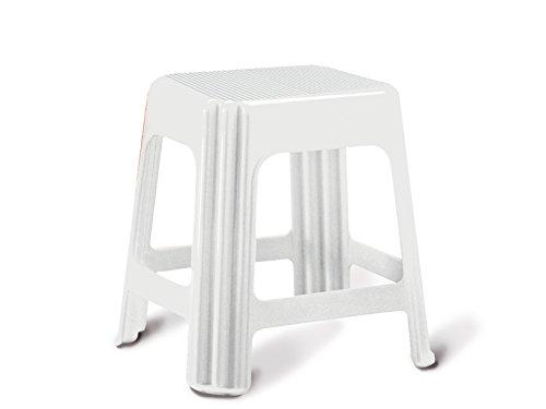Giganplast 7590M/BI Sgabello Novanta, Bianco, 36x29x44 cm