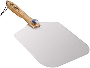 Tdhdike Premium Aluminum Pizza Peel With Foldable Oaken Handle
