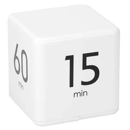 CUTULAMO Cube Timer Operación Simple Sensor de Gravedad Flip Timer Blanco, para Juegos de Trabajo Cocina Temporizador Digital(15-20-30-60 Minutes)
