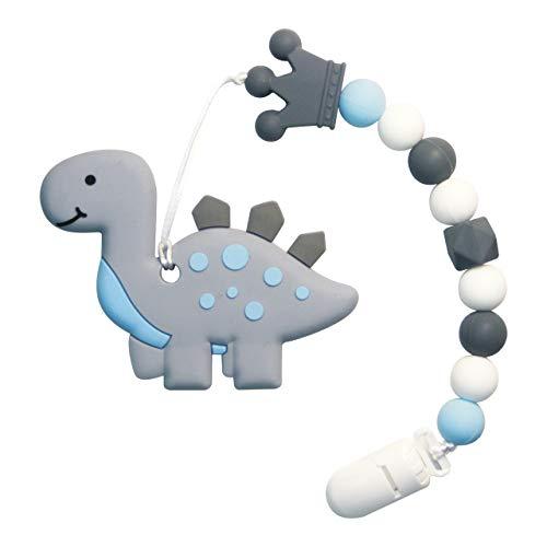Mordedor bebes Baby Teething Toys Juguetes de dentición para bebés, conjunto de mordedores de silicona natural de silicona suave