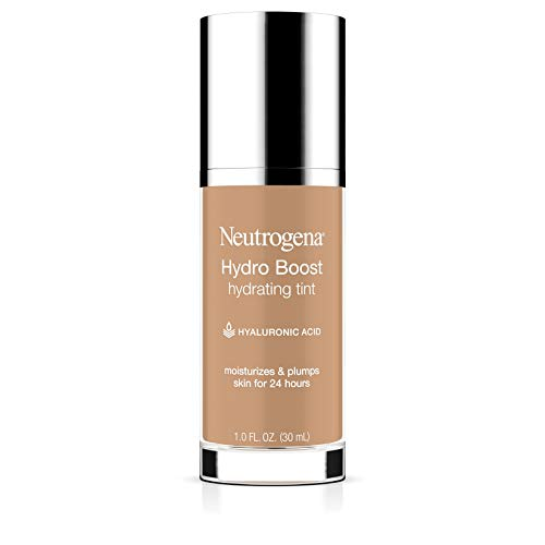 Neutrogena Hydro Boost Hydrating Tint with Hyaluronic Acid, Lightweight Water Gel Formula, Moisturizing, Oil-Free & Non-Comedogenic Liquid Foundation Makeup, 60 Natural Beige 1.0 fl. oz