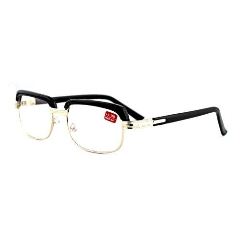 Aiweijia Lentes de lectura Vintage Inspired Classic Half Frame Glasses Clear Lens