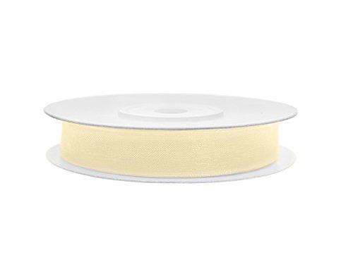 Simplydeko Chiffonband | Chiffon-Band/Schmuckband | Chiffonbänder (Hell-Creme, 6mm)