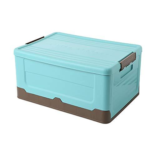 Mabor Cajas de almacenamiento de plástico con tapa, caja de almacenamiento plegable, apilable, organizador de plástico, para ropa, juguetes, libros, aperitivos, zapatos, 33 x 23 x 21,5 cm