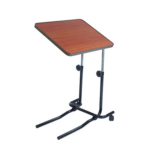 NRS Healthcare M01278 Overbed and Chair Table - Divan Style, Tiliting and Adjustable