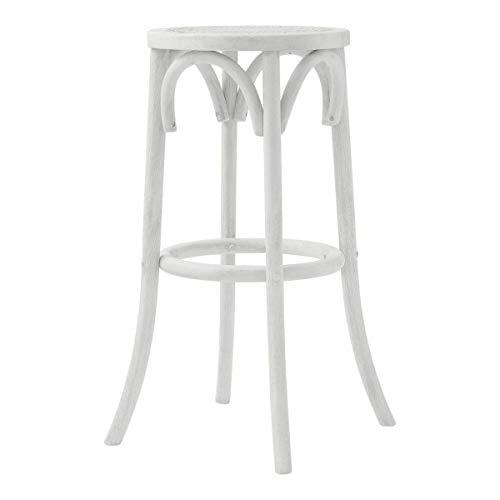 Maine Furniture Co. Aubignan - Sgabello da bar per colazione, colore: bianco antico