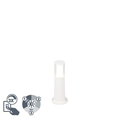 QAZQA Moderno Baliza moderna blanca 40cm IP55 GU10 - CARLO Plástico Alargada...