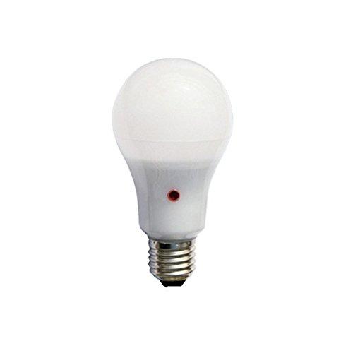 F-Bright Bombilla Led Standard con Sensor Crepuscular E27, 12 W, Blanco, 12.5 x 6.5 cm
