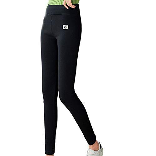 Leggings in Lana di Agnello con Gufo Imbottito in Peluche Leggings da Donna A Vita Alta Autunno E Inverno Pantaloni Caldi,Moda Casual da Donna Stampat