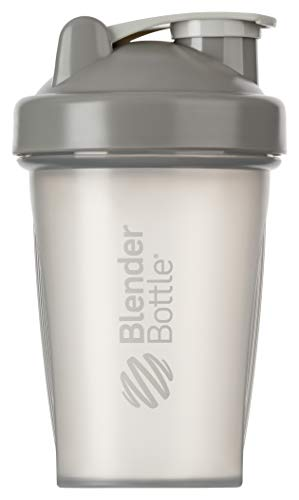 BlenderBottle Classic Shaker per frullati di proteine | Bottiglia per acqua | Borraccia | BlenderBall | 590 ml - pebble