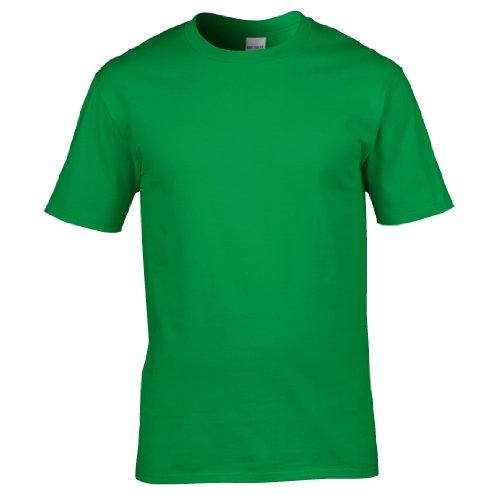 Gildan–T-Shirt 100% Baumwolle–Herren L Verde irlandese