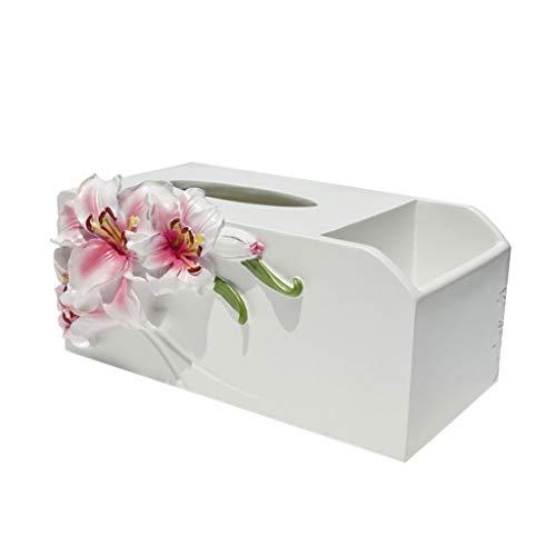 zlw-shop Caja de Pañuelos Caja de pañuelos Creativa Europea Bandeja de Control Remoto Almacenamiento de múltiples Funciones Sala de Estar Mesa de Centro Bandeja para el hogar Dispensador Pañuelos