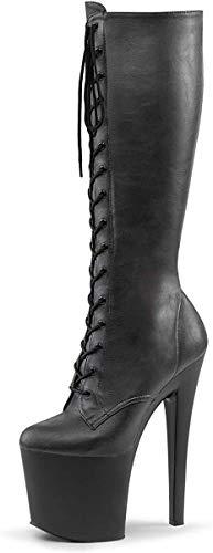 Demonia Damen Ranger-108 Stiefel, Blk Str Faux Leather/Blk Matte, 39 EU