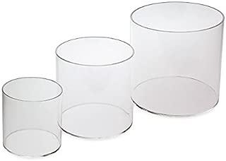 Source One LLC 3 Piece Set 4,6,8 Inch Round Clear Acrylic Riser Sets