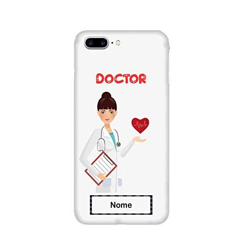 Generico Cover Apple iPhone 7 Plus Lavoro Donne Dottoressa con Cuore Medicina/Custodia Stampa Anche sui Lati/Case Anticaduta Antiscivolo AntiGraffio Antiurto Protettiva Rigida
