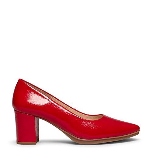 Urban S Charol Zapato de Charol con tacón Medio Rojo