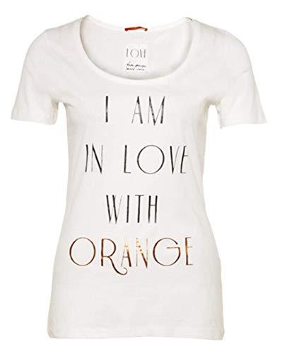 BOSS Talasa Camiseta, Blanco 107, 38 para Mujer