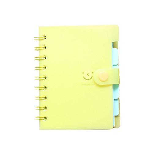 Uzinb Small Size Lächeln Spiral Coil Buch PVC-Abdeckung Lesezeichen Notebook Notizblock Briefpapier Schule Büro