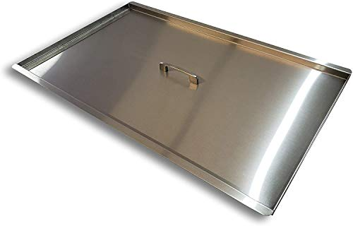 Commercial Fryer Cover for 40lb and 50lb fryers (Take Measurements Before Buying) - Stainless Steel