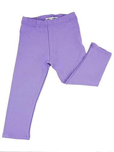 Vivian's Fashions Capri Leggings - Toddler Girls, Cotton (Lavender, 3T)