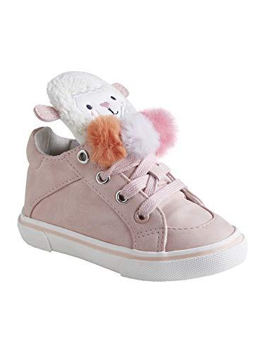 Vertbaudet Mädchen High Sneakers für Babys, 3 Pompons wollweiß/pfirsich 19