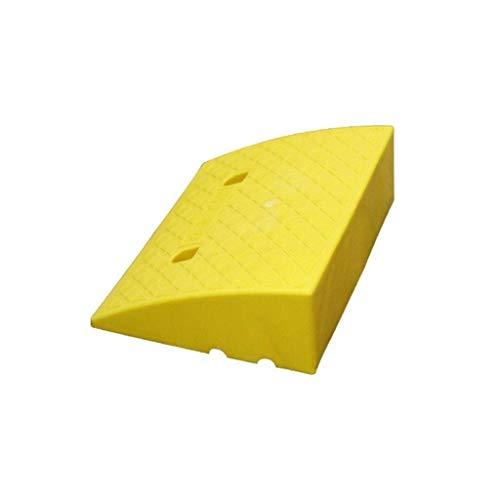 ACZZ Mat Pendiente plástico, hogar del umbral de ruedas rampas antideslizantes de las rampas Paso Jardín carretilla Umbral Rampas Negro/Amarillo,Amarillo,49,5 * 39 * 16.5CM