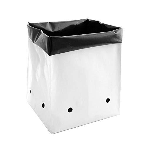 Hydro Crunch D94002111-100PC 1/2 Gal. B&W PE Grow Bag Set (100-Pack)