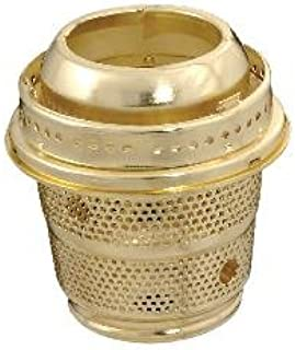 B&P Lamp Nickel Finish Cut-Out Burner Designed to Fit Aladdin Brand Lamps