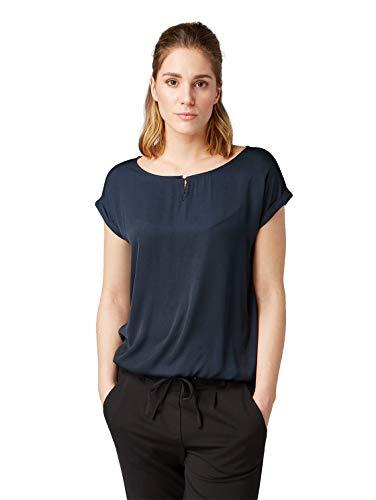 TOM TAILOR Damen 1007955 T-Shirt, Blau (Sky Captain Blue 10668), X-Small (Herstellergröße: XS)