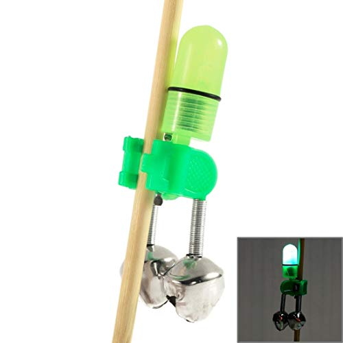 L.J.JZDY Herramienta de Pesca 10 UNIDS Accesorios de Pesca Similitude Bells Clip Pesca Alarma de mordida con Noche de Pesca...