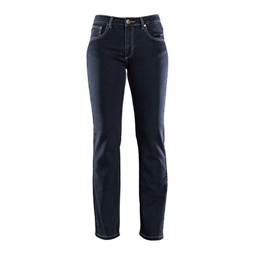 COLAC Damen Jeans Martha in Black mit Straight Fit mit Stretch, 44W / 30L, Blackblack