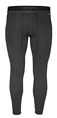 Carhartt Men's Force Heavyweight Thermal Base Layer Pant, Black Heather, X-Large