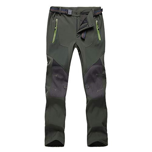 Yowablo Hose Chinohose Jeans Pants Wanderhose Trekkinghose Softshellhose Outdoorhose Hose Weiss Cargohose Freizeitanzug Sportbekleidung (L,Plus Samt-2- Herren-Armeegrün)