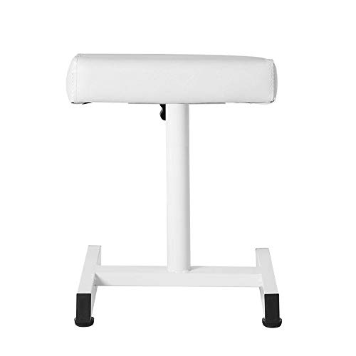 Reposapiés para uñas de pedicura, taburete de pedicura ajustable para manicura, reposabrazos para piernas, soporte para silla, herramienta de pedicura adecuada para salón de bell(blanco)