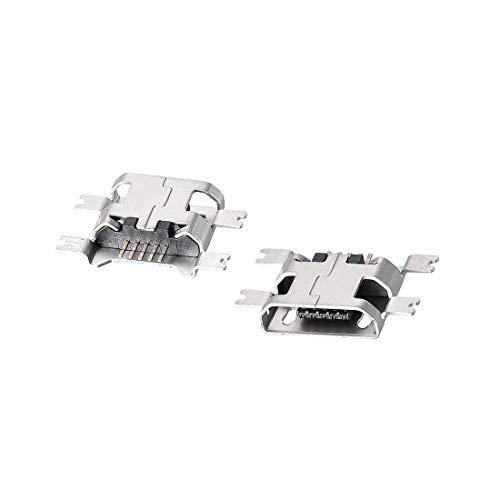 N/D 100 conectores micro USB hembra conector jack Port, 5 pines diip 180 grados, adaptador de repuesto