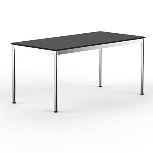 VERSEE system8x Design Schreibtisch -- Holz -- Schwarz -- 160 x 80 cm -- Konferenztisch, Arbeitstisch, Computertisch, Besprechungstisch, Meetingtisch,...