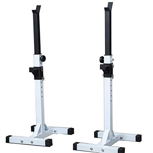 HAOYF Verstellbarer Kniebeugenständer, Langhantelablage für Zuhause, Bankdrücken, Heim-Fitnessgerät, Krafttrainingsgerät
