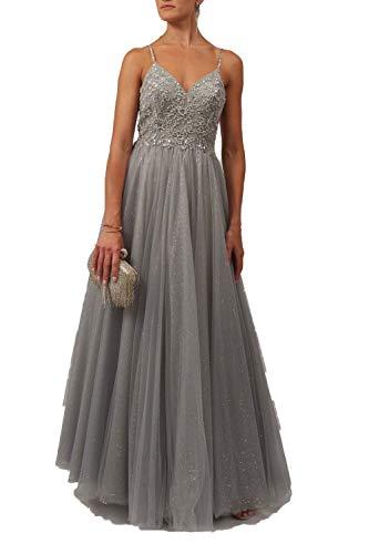 Mascara Silber Brise Mc11924 Tüll Prom Kleid 42