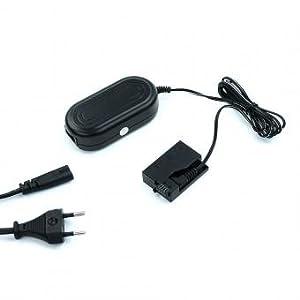 subtel® Fuente de alimentación Compatible con Canon EOS 700D 600D 550D 650D, EOS Rebel T3i Rebel T5i Rebel T2i Rebel T4i - ca. 3m, ACK-E8 (CA-PS700 + DR-E8), 7.4V Cable de Corriente