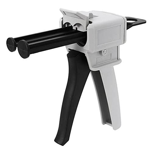 Amunador de Pistola de calafateo Manual Pistola adhensiva de Pistola Mezclado 1: 1 2: 1 Dispensador 50ml 2 componente AB Pistola de Pegamento de sellador epoxi