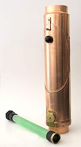 Regenwassersammler-Set Kupfer 3tlg, Ø 100 mm, mit Überlaufschutz und Zugangsklappe