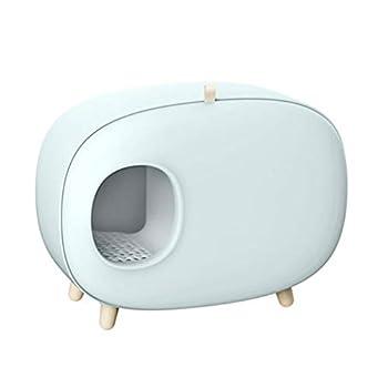 MZP Chat Maison Toilette Petlife Maison Toilette pour Chat Bac Litière pour Chats Semi-fermé pour Chatons Et Chats De Petite Taille Ou Taille Moyenne - Utilisation en Intérieur Extérieur