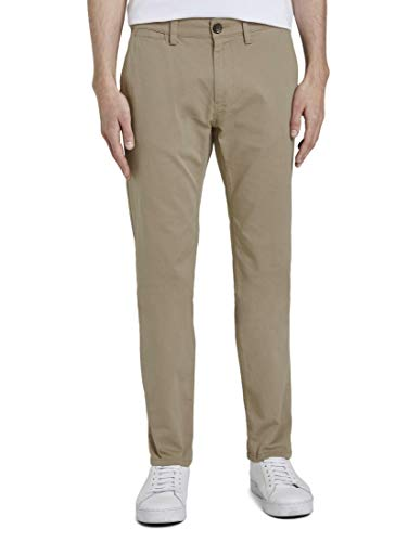 Tom Tailor Chino Pantalon, Beige (Cement Yarn Dye stru 20631), 58 (Taille Fabricant: 40/34) Homme